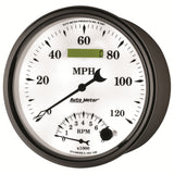 "AutoMeter - 5"" TACHOMETER/SPEEDOMETER COMBO, 8K RPM/120 MPH, ELECTRIC, OLD-TYME WHITE II (1290)"