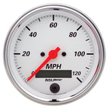 "AutoMeter - 3-3/8"" SPEEDOMETER, 0-120 MPH, ELECTRIC, ARCTIC WHITE (1380)"