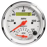 "AutoMeter - 3-3/8"" TACHOMETER/SPEEDOMETER COMBO, 8K RPM/120 MPH, ELECTRIC, ARCTIC WHITE (1381)"