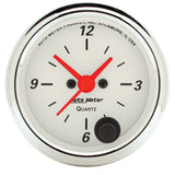 "AutoMeter - 2-1/16"" CLOCK, 12 HOUR, ARCTIC WHITE (1385)"