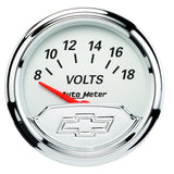"AutoMeter - 2-1/16"" VOLTMETER, 8-18V, AIR-CORE, CHEVY VINTAGE (1391-00408)"