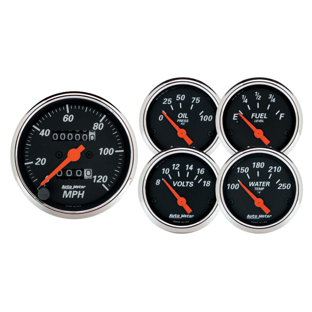 AutoMeter - 5 PC. GAUGE KIT, 3-1/8