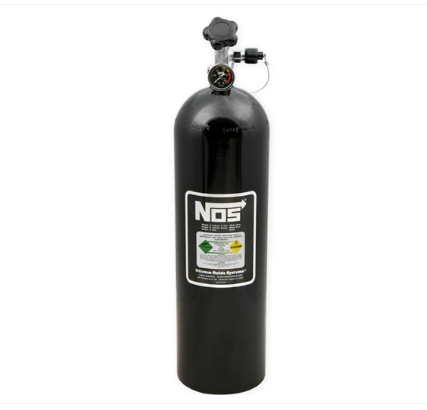 Nitrous Oxide System - NOS Nitrous Bottle 15 lbs. Black Finish (14750B-ZR1)