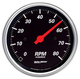 "AutoMeter - 3-3/8"" IN-DASH TACHOMETER, 0-8,000 RPM, DESIGNER BLACK (1490)"