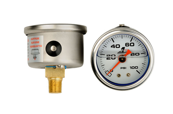 Aeromotive - 0-100 psi Fuel Pressure gauge (15633)