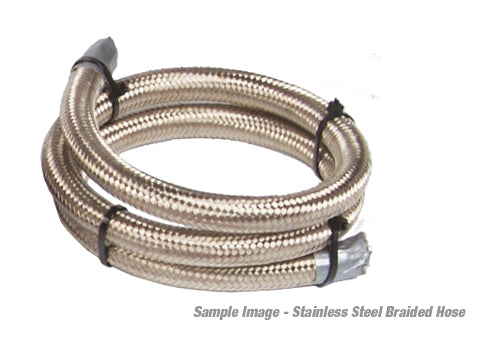Aeromotive - 12′ AN-08 Stainless Steel Braided Line (15706)
