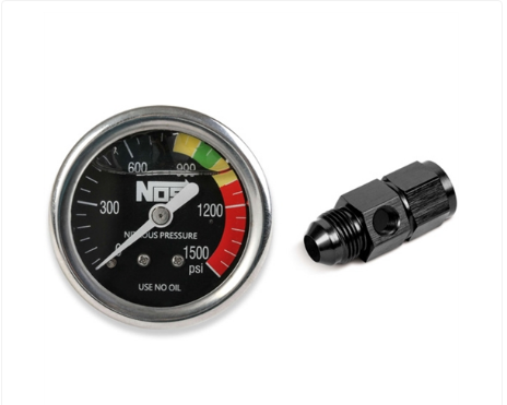 Nitrous Oxide System - NOS Nitrous Pressure Gauge Includes -8 AN Adapter Fitting (15949NOS)