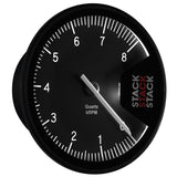 AutoMeter - TACHOMETER, PROFESSIONAL, ACTION REPLAY, 125MM, BLK, 0-8K RPM (ST430-08)
