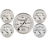 "AutoMeter - 5 PC. GAUGE KIT, 3-1/8"" & 2-1/16"", MECHANICAL SPEEDOMETER, OLD TYME WHITE (1601)"