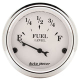 "AutoMeter - 2-1/16"" FUEL LEVEL, 0-90 Ω, AIR-CORE, GM, OLD TYME WHITE (1604)"