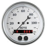 "AutoMeter - 3-3/8"" GPS SPEEDOMETER, 0-120 MPH, OLD-TYME WHITE  (1649)"