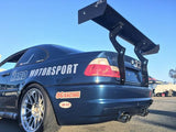 HARD Motorsport Chassis-Mount Rear Spoiler Upright Kit - E46 Coupe