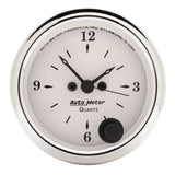 "AutoMeter - 2-1/16"" CLOCK, 12 HOUR, OLD-TYME WHITE (1686)"