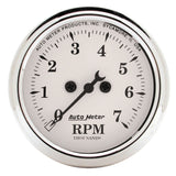 "AutoMeter - 2-1/16"" IN-DASH TACHOMETER, 0-7,000 RPM, OLD-TYME WHITE (1694)"