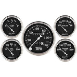 "AutoMeter - 5 PC. GAUGE KIT, 3-1/8"" & 2-1/16"", MECHANICAL SPEEDOMETER, OLD TYME BLACK (1708)"