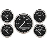 "AutoMeter - 5 PC. GAUGE KIT, 3-1/8"" & 2-1/16"", ELECTRIC SPEEDOMETER, OLD TYME BLACK (1709)"