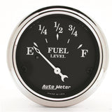 "AutoMeter - 2-1/16"" FUEL LEVEL, 0-90 Ω, AIR-CORE, OLD TYME BLACK (1715)"
