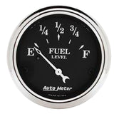 "AutoMeter - 2-1/16"" FUEL LEVEL, 73-10 Ω, AIR-CORE, OLD TYME BLACK (1716)"