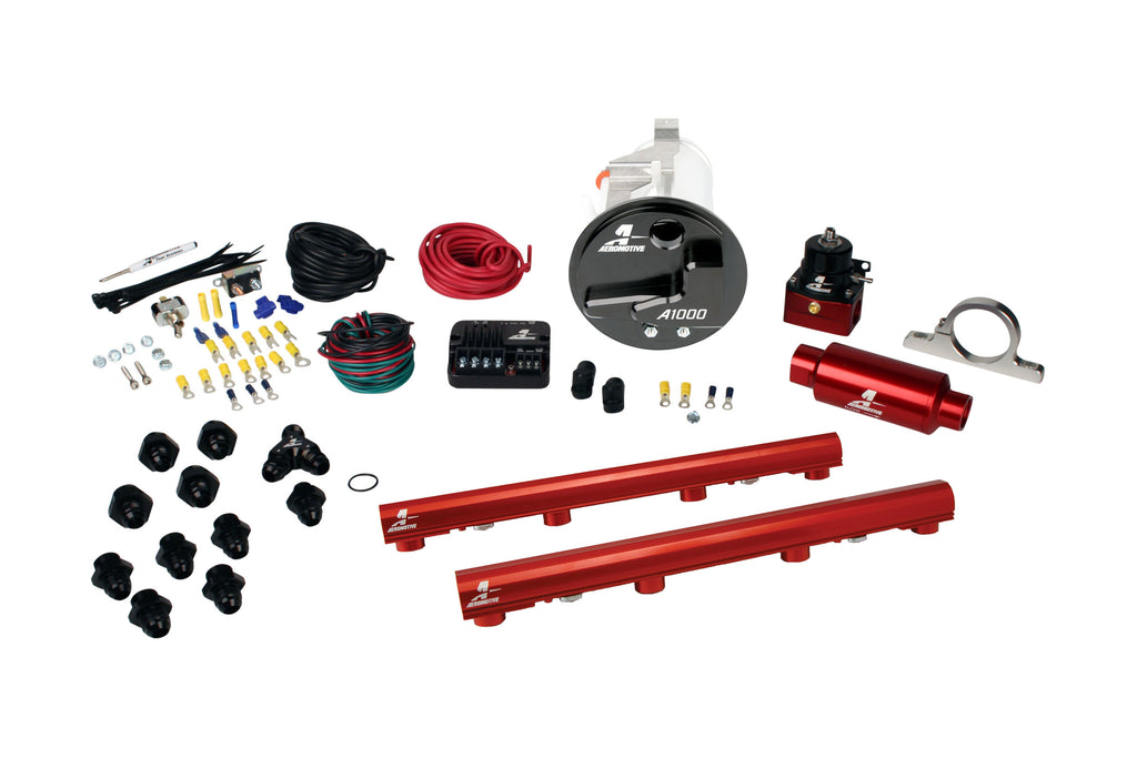 Aeromotive - 05-09 Mustang GT Stealth A1000 Street Fuel System with 4.6L 3-V Fuel Rails (17303)