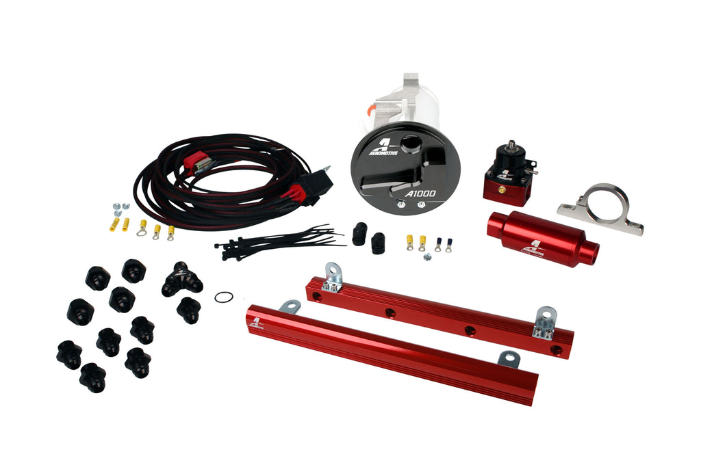 Aeromotive - 05-09 Mustang GT Stealth A1000 Racing Fuel System with 5.4L 4-V Fuel Rails (17304)