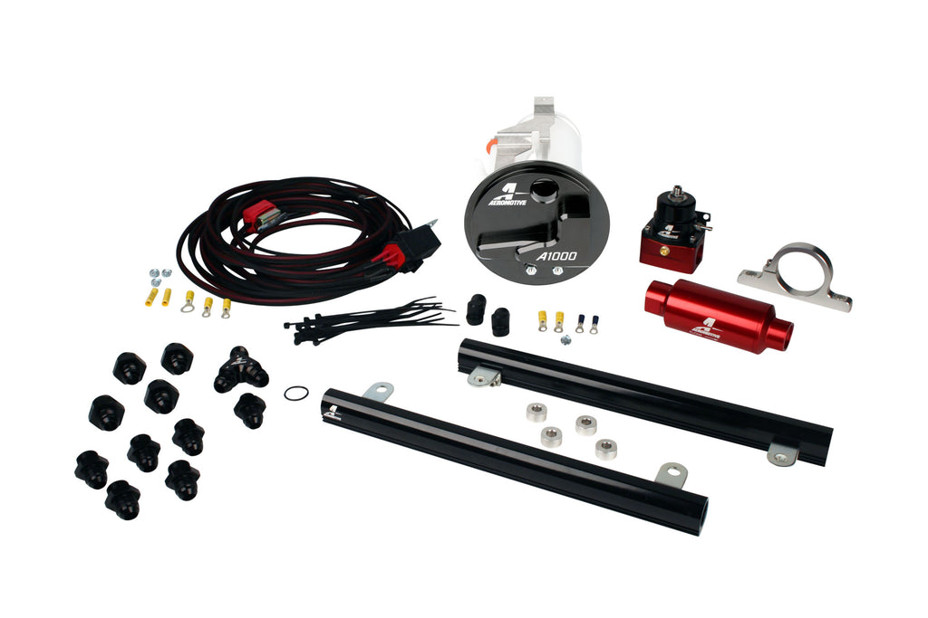 Aeromotive - 05-09 Mustang GT Stealth A1000 Race Fuel System with 5.4L CJ Fuel Rails (17306)