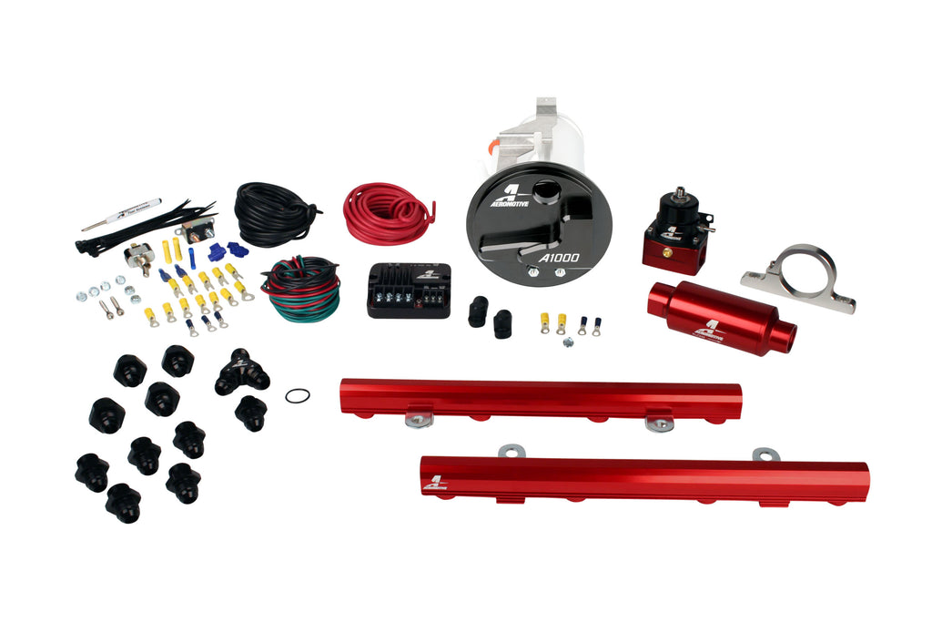 Aeromotive - 05-09 Mustang GT Stealth A1000 Street Fuel System with 5.0L 4-V Fuel Rails (17309)