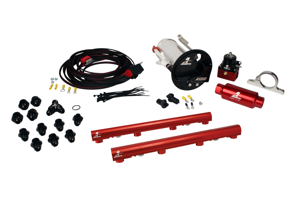 Aeromotive -  07-12 Shelby GT500 Stealth A1000 Racing Fuel System with 4.6L 3-V Fuel Rails (17310)