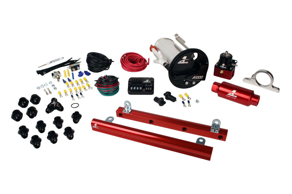 Aeromotive - 07-12 Shelby GT500 Stealth A1000 Street Fuel System with 5.4L 4-V Fuel Rails (17313)