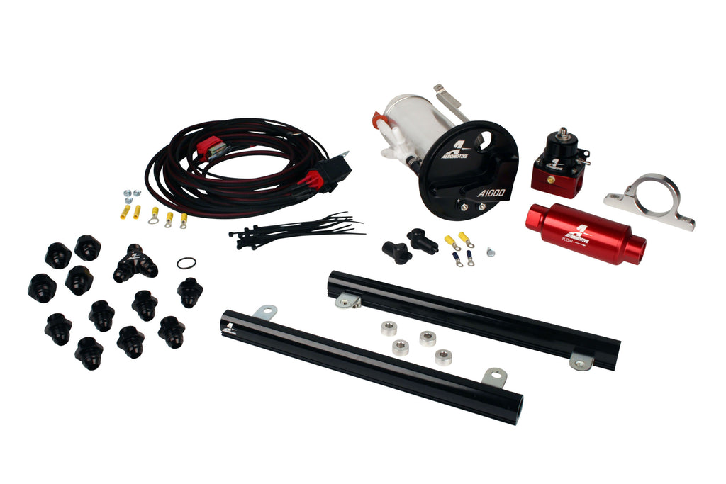 Aeromotive -  07-12 Shelby GT500 Stealth A1000 Racing Fuel System with 5.4L CJ Fuel Rails (17314)