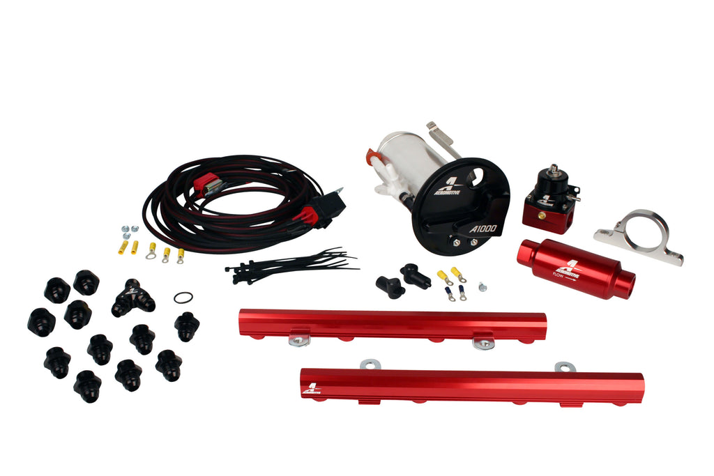 Aeromotive -  07-12 Shelby GT500 Stealth A1000 Racing Fuel System with 5.0L 4-V Fuel Rails (17316)