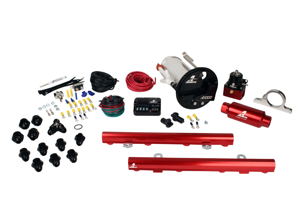 Aeromotive - 07-12 Shelby GT500 Stealth A1000 Street Fuel System with 5.0L 4-V Fuel Rails (17317)