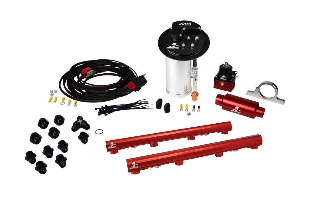 Aeromotive - 10-17 Mustang GT Stealth A1000 Racing Fuel System with 4.6L 3-V Fuel Rails (17318)