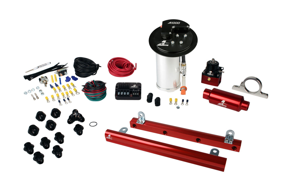 Aeromotive - 10-17 Mustang GT Stealth A1000 Street Fuel System with 5.4L 4-V Fuel Rails (17321)
