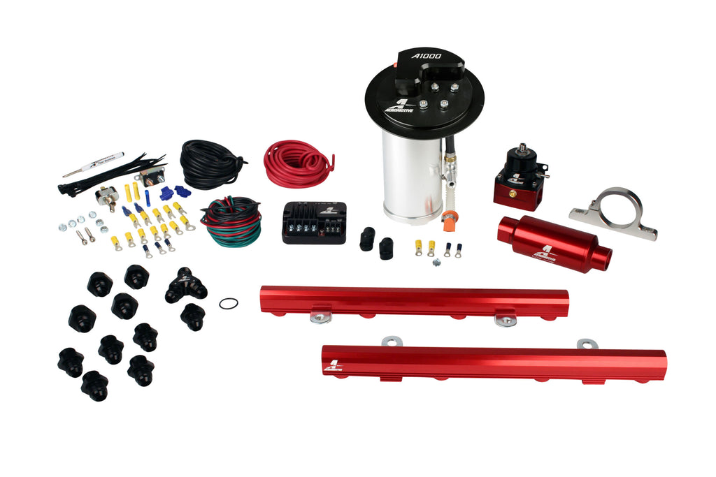 Aeromotive - 10-17 Mustang GT Stealth A1000 Street Fuel System with 5.0L 4-V Fuel Rails (17325)