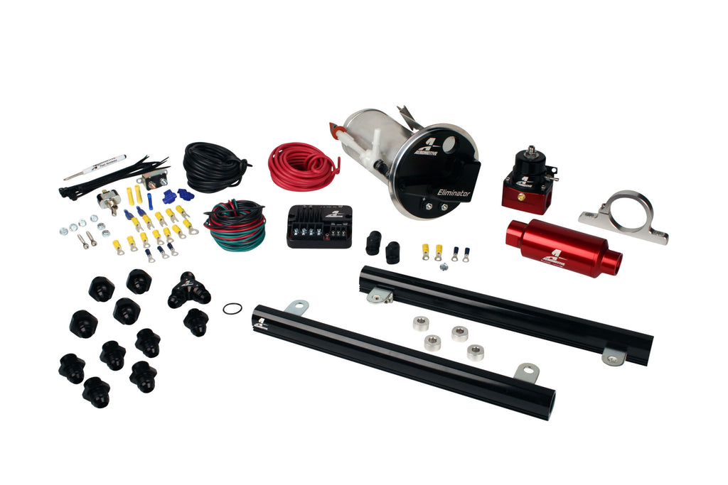 Aeromotive - 05-09 Mustang GT Stealth Eliminator Street System with 5.4L CJ Fuel Rails (17330)