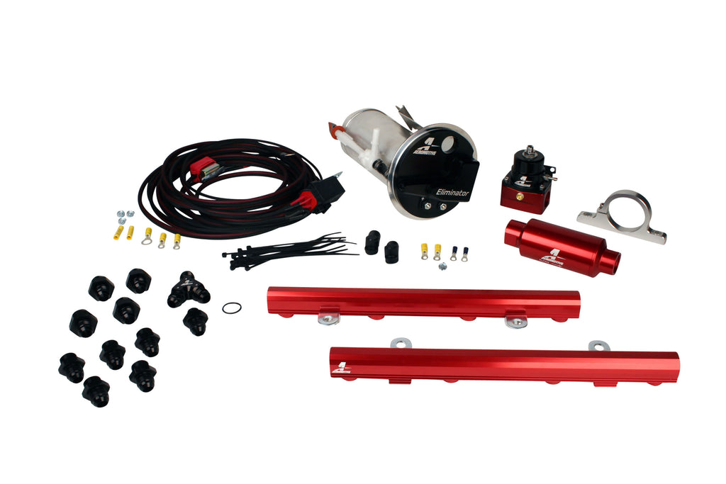 Aeromotive - 05-09 Mustang GT Stealth Eliminator Race System with 5.0L 4-V Fuel Rails (17332)