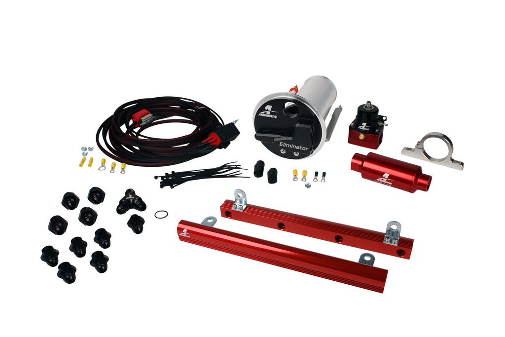 Aeromotive - 07-12 Shelby GT500 Stealth Eliminator Racing System with 5.4L 4-V Fuel Rails (17336)