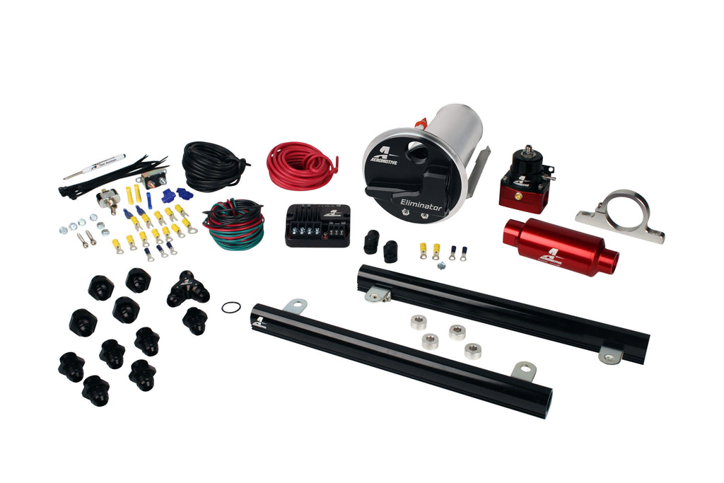 Aeromotive - 07-12 Shelby GT500 Stealth Eliminator Street System with 5.4L CJ Fuel Rails (17339)