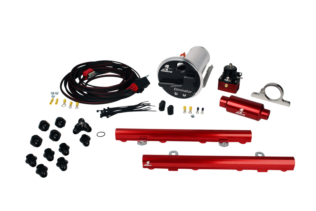 Aeromotive - 07-12 Shelby GT500 Stealth Eliminator Racing System with 5.0L 4-V Fuel Rails (17340)