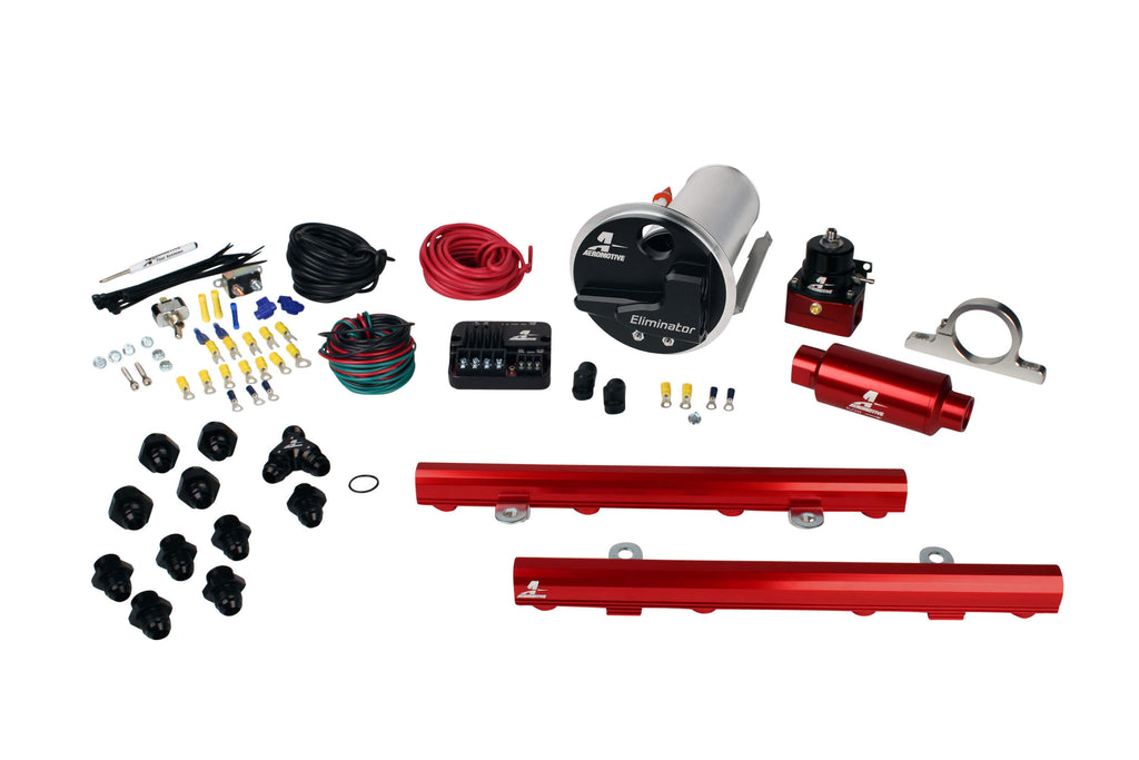 Aeromotive - 07-12 Shelby GT500 Stealth Eliminator Street System with 5.0L 4-V Fuel Rails (17341)