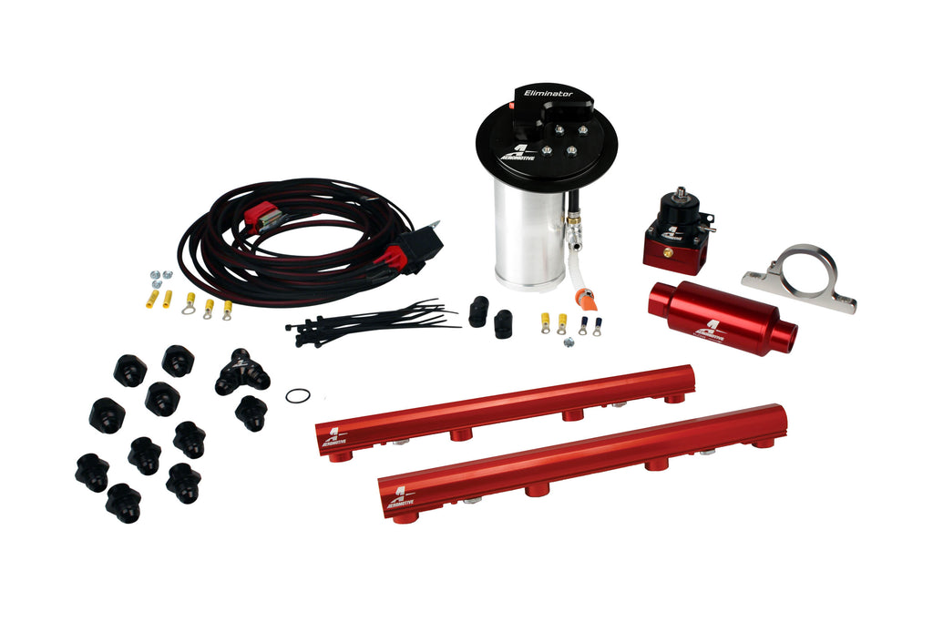 Aeromotive - 10-17 Mustang GT Stealth Eliminator Racing System with 4.6L 3-V Fuel Rails (17342)
