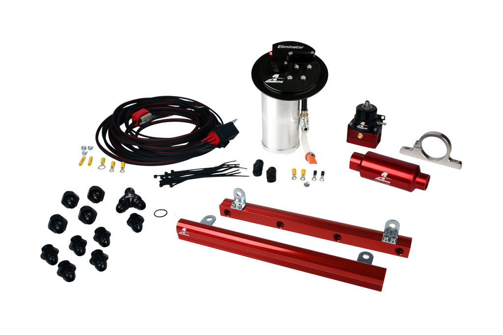 Aeromotive - 10-17 Mustang GT Stealth Eliminator Racing System with 5.4L 4-V Fuel Rails (17344)