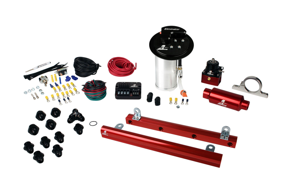 Aeromotive - 10-17 Mustang GT Stealth Eliminator Street System with 5.4L 4-V Fuel Rails (17345)
