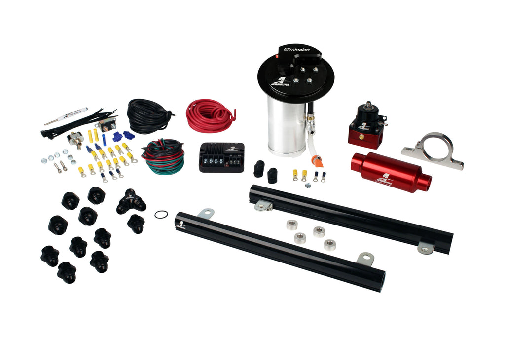 Aeromotive - 10-17 Mustang GT Stealth Eliminator Street System with 5.4L CJ Fuel Rails (17347)