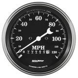 "AutoMeter - 3-3/8"" SPEEDOMETER, 0-120 MPH, ELECTRIC W/ WHEEL ODO, OLD TYME BLACK (1779)"