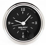 "AutoMeter - 2-1/16"" CLOCK, 12 HOUR, OLD TYME BLACK (1785)"