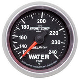 "AutoMeter - 2-1/16"" WATER TEMPERATURE, 120-240 °F, 6 FT., MECHANICAL, SPORT-COMP II (3632)"