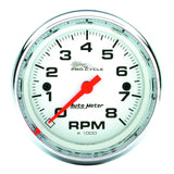 "AutoMeter - 2-5/8"" TACHOMETER, 0-8,000 RPM, WHITE W/ CHROME BEZEL, PRO-CYCLE (19305)"