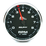 "AutoMeter - 2-5/8"" TACHOMETER, 0-8,000 RPM, BLACK, BLUE LED, PRO-CYCLE (19306)"
