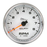 "AutoMeter - 2-5/8"" TACHOMETER, 0-8,000 RPM, WHITE, BLUE LED, PRO-CYCLE (19307)"
